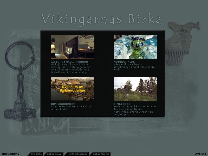 Vikingarnas Birka, Screenshot