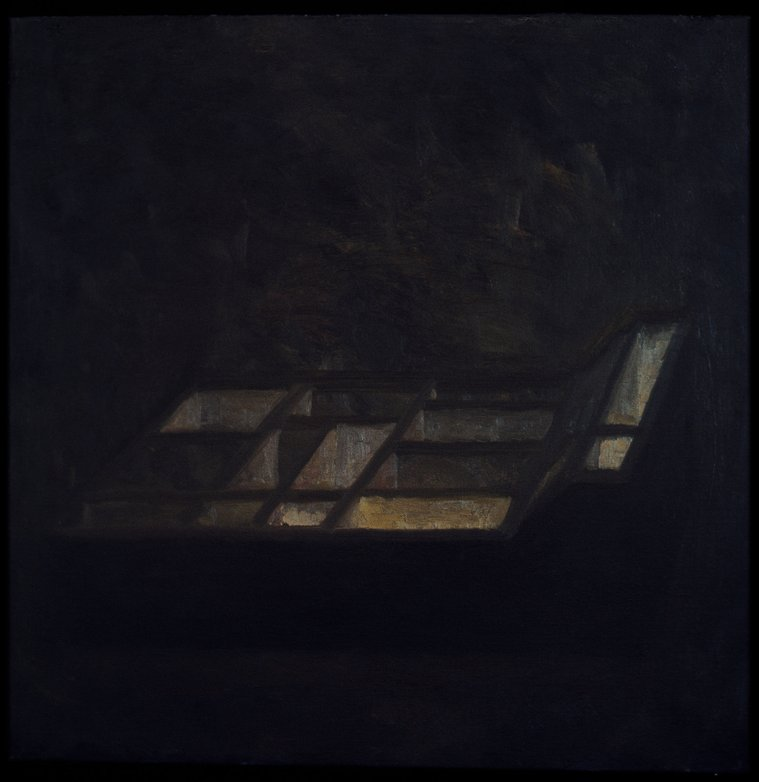 The Box, Oil on canvas, Art work